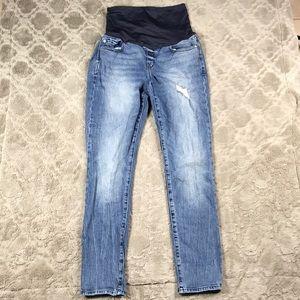 Gap Maternity Always Skinny Jeans Distressed Light